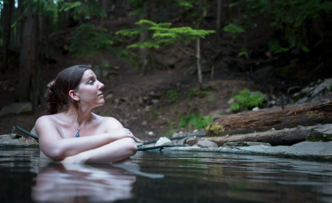 women skinny dipping, peaceful woman