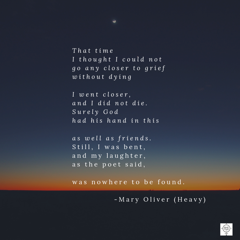 grief, holiday stress, Mary Oliver Quotes